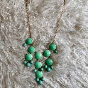 JCrew Turquoise Bubble Necklace